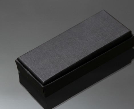 Rectangular black keychain box