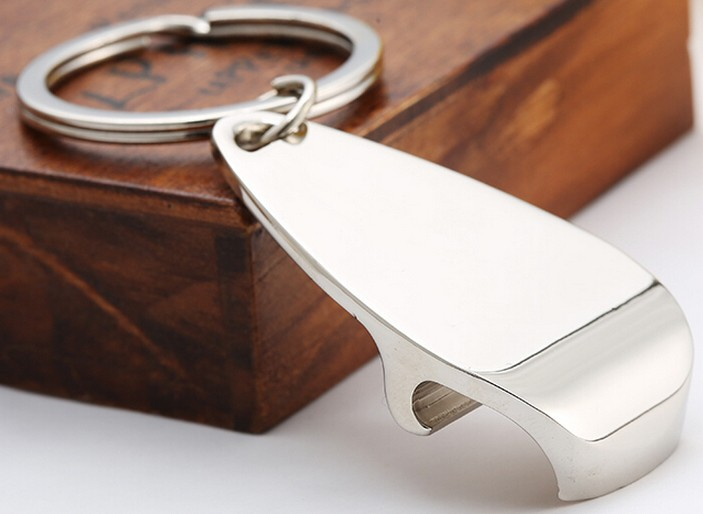 Alloy bottle opener keychain