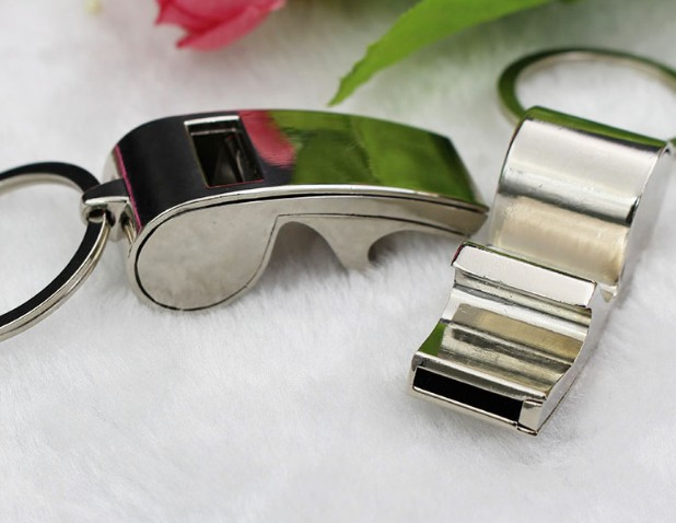 Multi-function whistle keychain