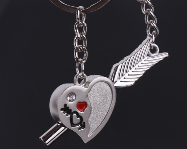 Love's Arrow Couple Keychains