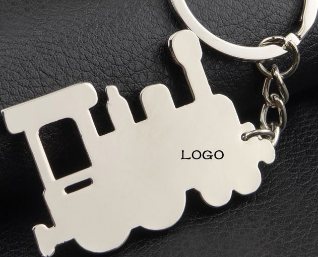 Retro Train keychain