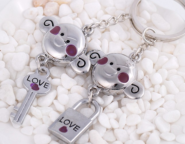 Mouth monkey lovers keychains