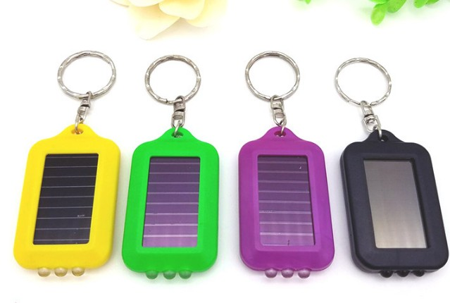 Mini solar LED keychain