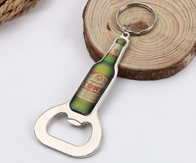 Classic drop of glue bottle opener keychain