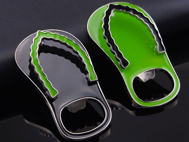 Creative slippers bottle opener keychain