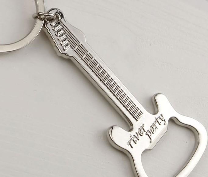 Metal guitar bottle opener keychain, Custom Your Bottle