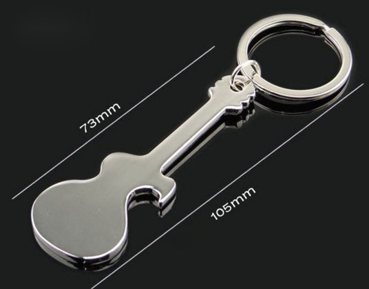 Mini guitar bottle opener keychain