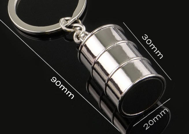 3d oil drums keychain