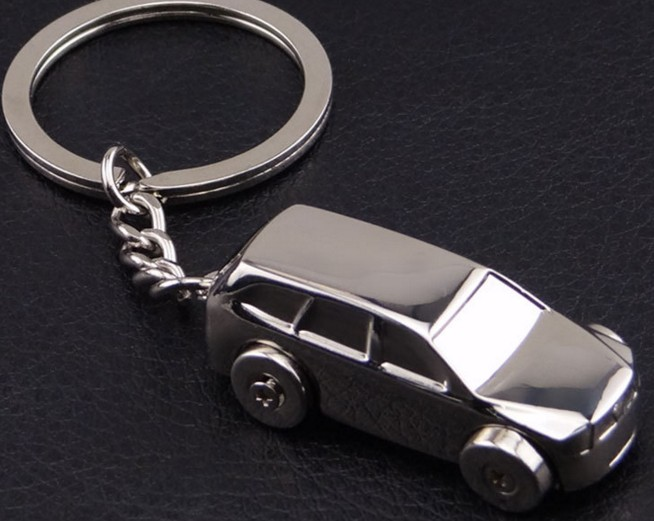 SUV Business car alloy keychain