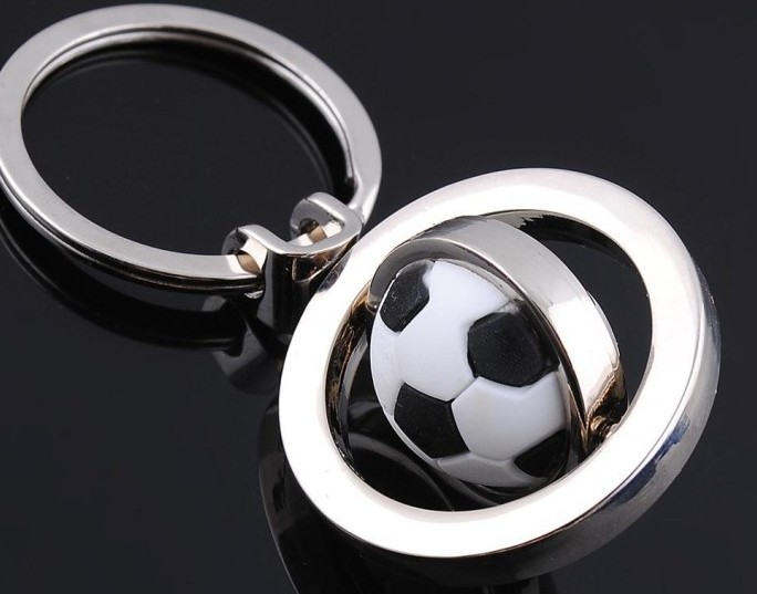 3d rotating golf ball keychain