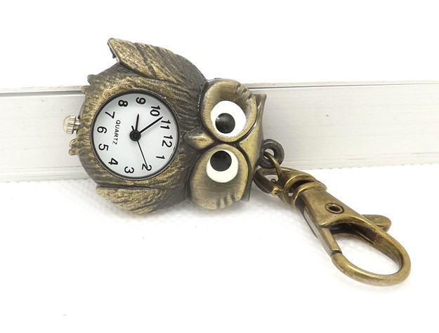Retro Owl Watch Keychain