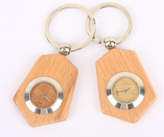 wooden watch keychain