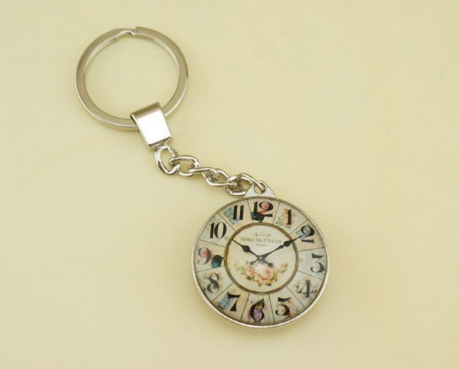 European style watch decoration Keychain