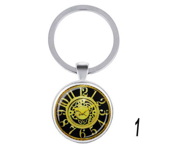 European style watch decorative alloy Keychain
