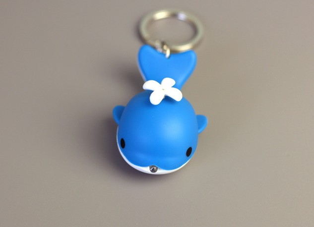 Small whale LED Keychain