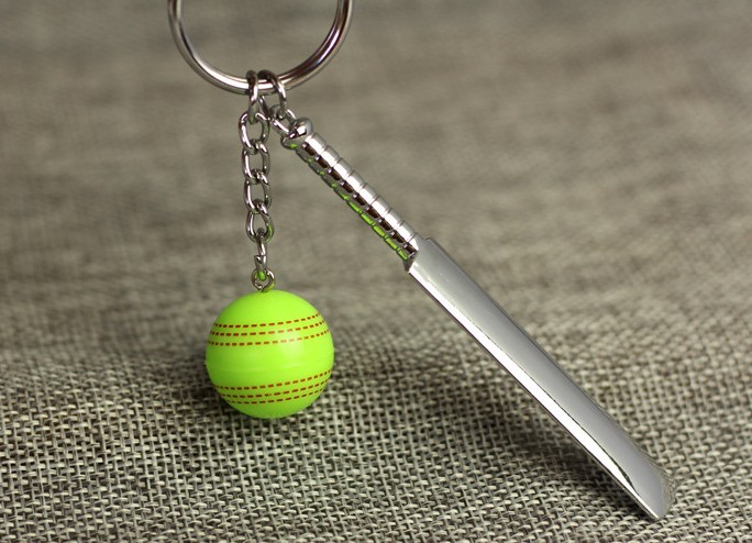 Cricket alloy keychain