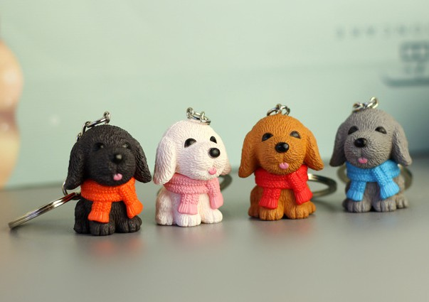 Cute dog keychain