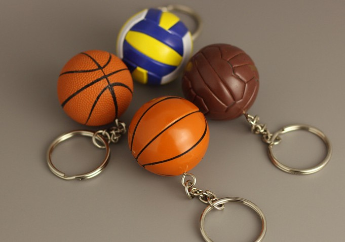 PVC Mini Basketball keychain