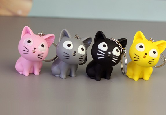 Creative Cartoon Cat LED keychain