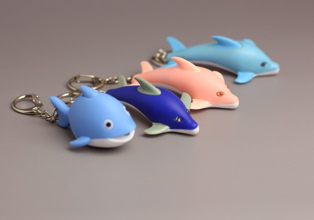 Cartoon Dolphin LED keychain