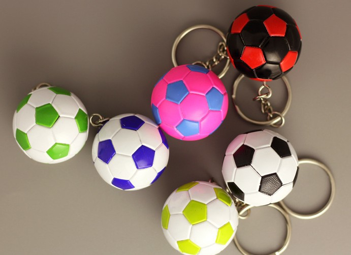 Simulation football keychain