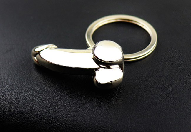 Male sex alloy keychain