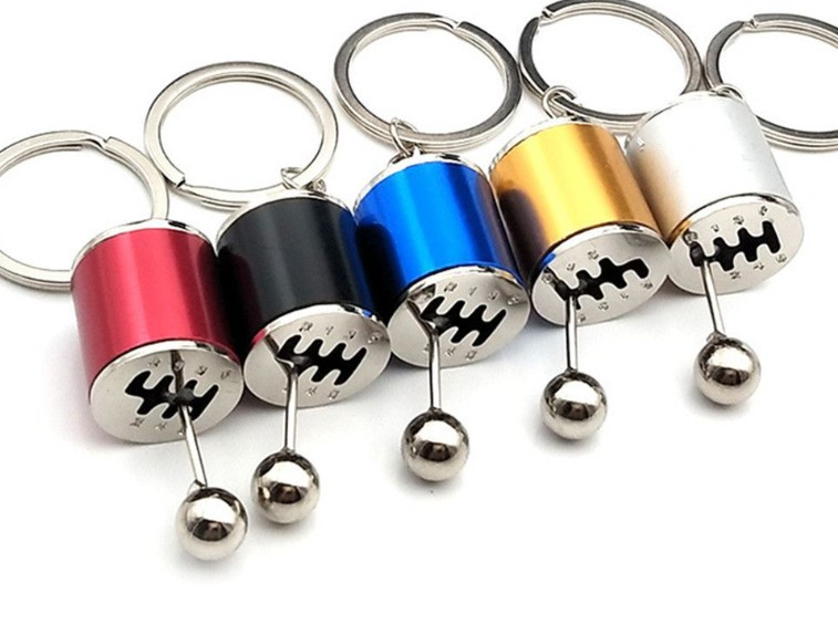 Car manual gear lever keychain